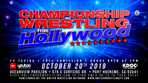 Championship Wrestling from Hollywood / Sun Oct 20th at 3pm / Ventura @ Oceanview Pavilion
